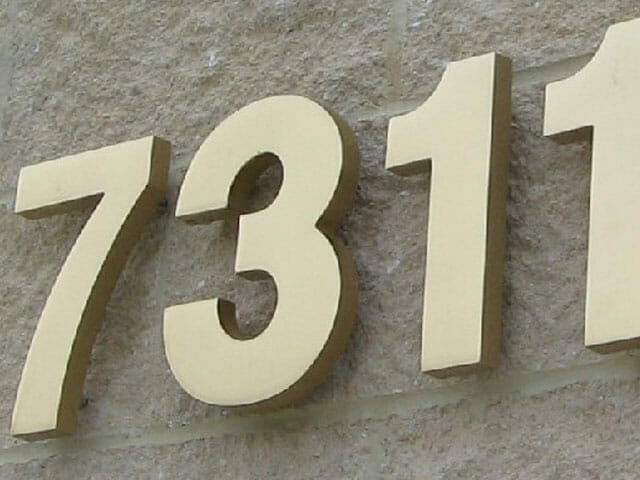Wall Mounted Metal Letters