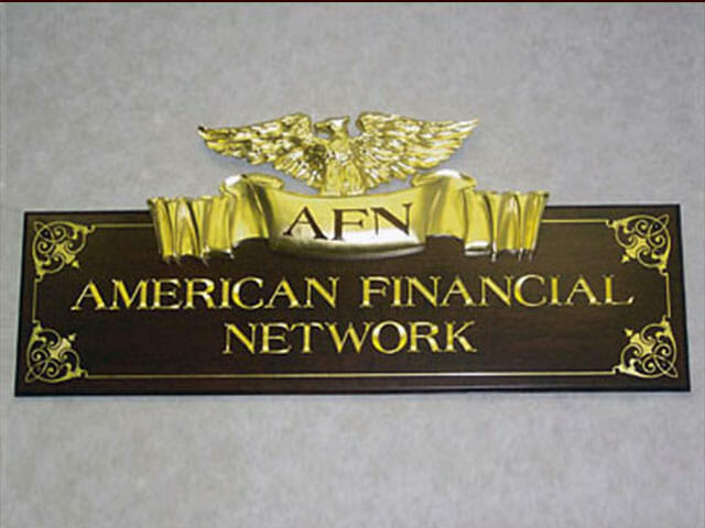 Carved Sign for American Financial Network