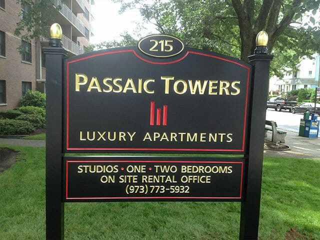 Carved Sign for Passaic Towers