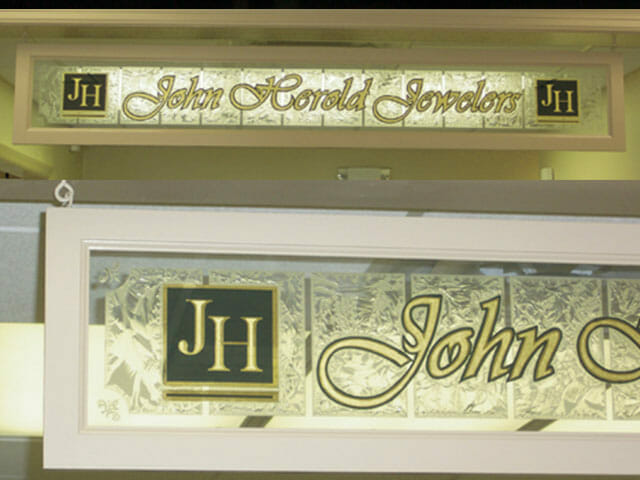 Gold Leaf Sign for John Herald Jewelers