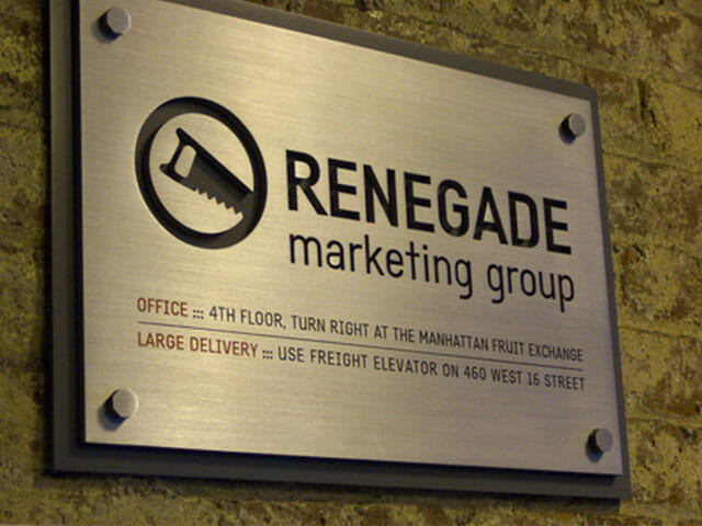 Plaque for Renegade Marketing Group