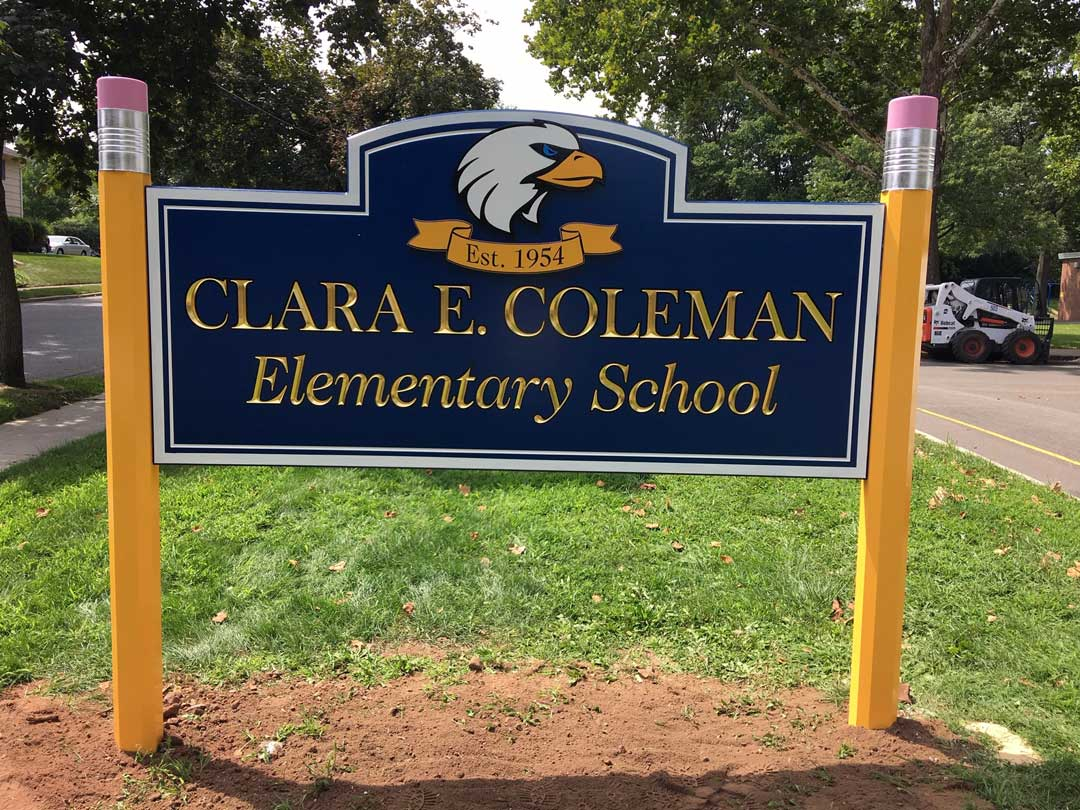 clara-e-coleman-elementary-school-carved-sign